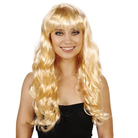 Blonde with Bangs Adult Wig - Blonde Wig With Bangs