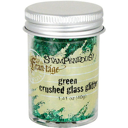 Stampendous Crushed Glass Glitter, 1.4 oz, Green