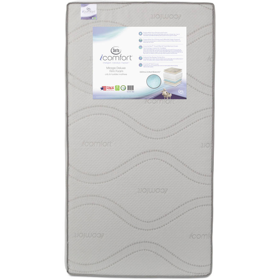 Serta iComfort Mirage Deluxe Foam Crib and Toddler Mattress by Childrens Products