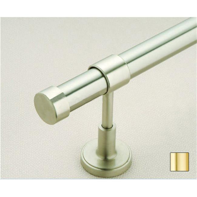 WinarT USA 8. 1016. 30. 03. 160 Liber 1016 Curtain Rod Set - 1. 25 inch - Matte Brass - 63 inch