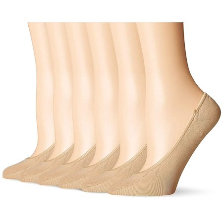 3 Pair Runner Sock (6 Pair Women's Mesh No Show/Silicone No Slip Loafer Sock Liner (Nude) )