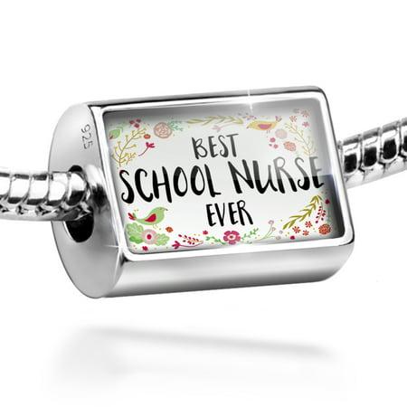 Bead Happy Floral Border School Nurse Charm Fits All European Bracelets