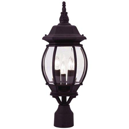 - Livex Lighting Frontenac 3 Light Outdoor Post Lantern