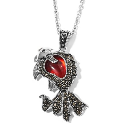 Chain Fish Pendant Necklace Stainless Steel Gift Jewelry for Women Size 20