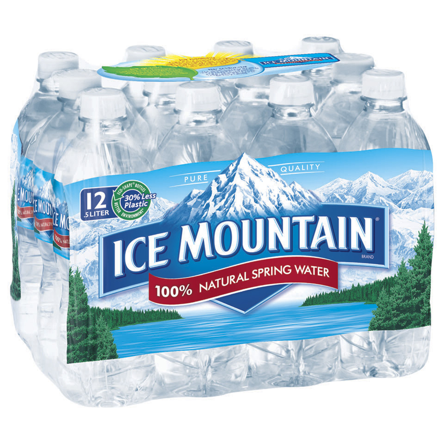 ICE MOUNTAIN Brand 100% Natural Spring Water, 16.9-ounce bottles (Pack of 12) by Nestle Waters North America Inc.