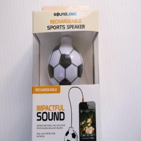 - Soundlogic Rechargeable Sports Keychain Speaker (Soccer)