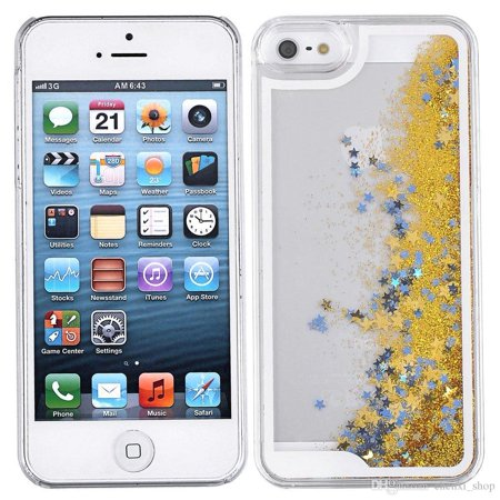 timeless design 7c94a 7bf98 Liquid Glitter Quicksand Phone Case for iPhone 5/5S - Gold