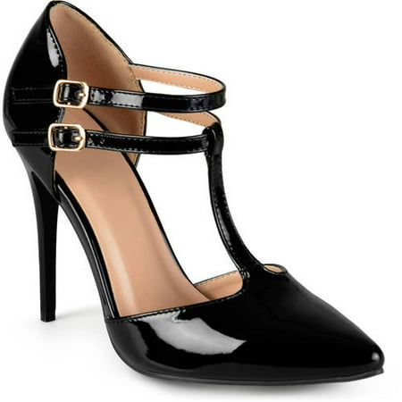 T-strap Dorsay Pump (Brinley Co. Women's T-strap Classic Pumps )