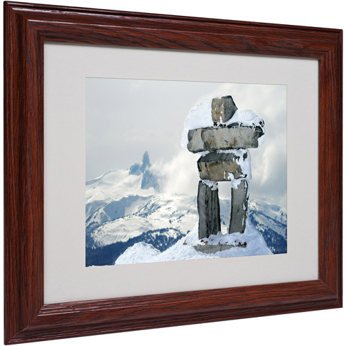 "Trademark Fine Art ""Whistler Inukshuk"" Matted Framed Art by Pierre Leclerc"