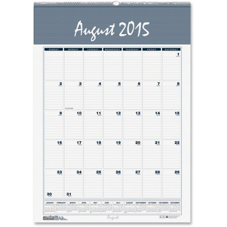 House Of Doolittle Bar Harbor 12X17 Academic Wall Calendar   Academic   Julian   Monthly  Daily   August Till July   1 Month Single Page Layout   12  X 17    Wire Bound   Wall Mountable   Blue Gray