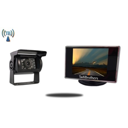 Vehicle Mount System - Tadibrothers 4.3 Inch Monitor and 120 Degree Wireless Mounted RV Camera (RV Backup System)