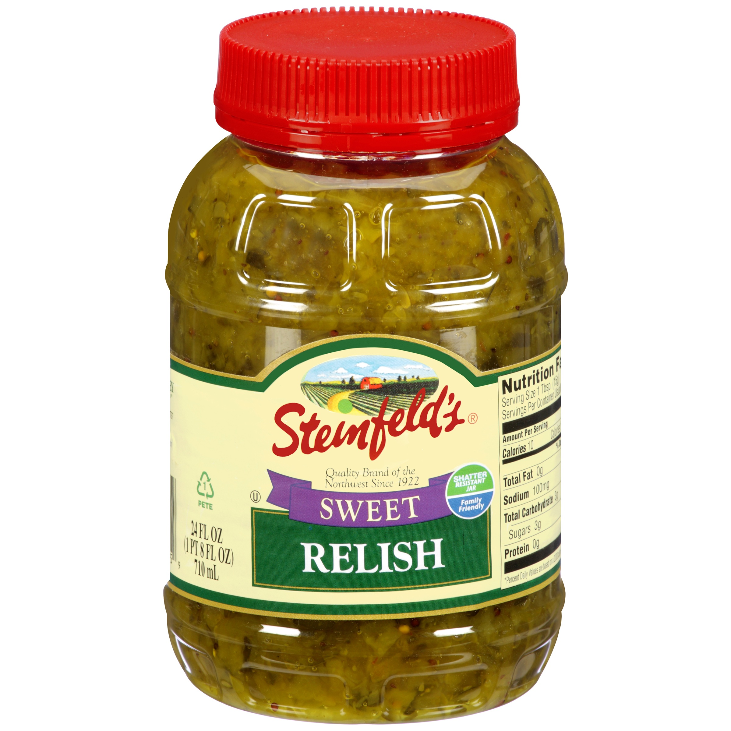 (3 Pack) Steinfeld's Sweet Pickle Relish, 24 oz