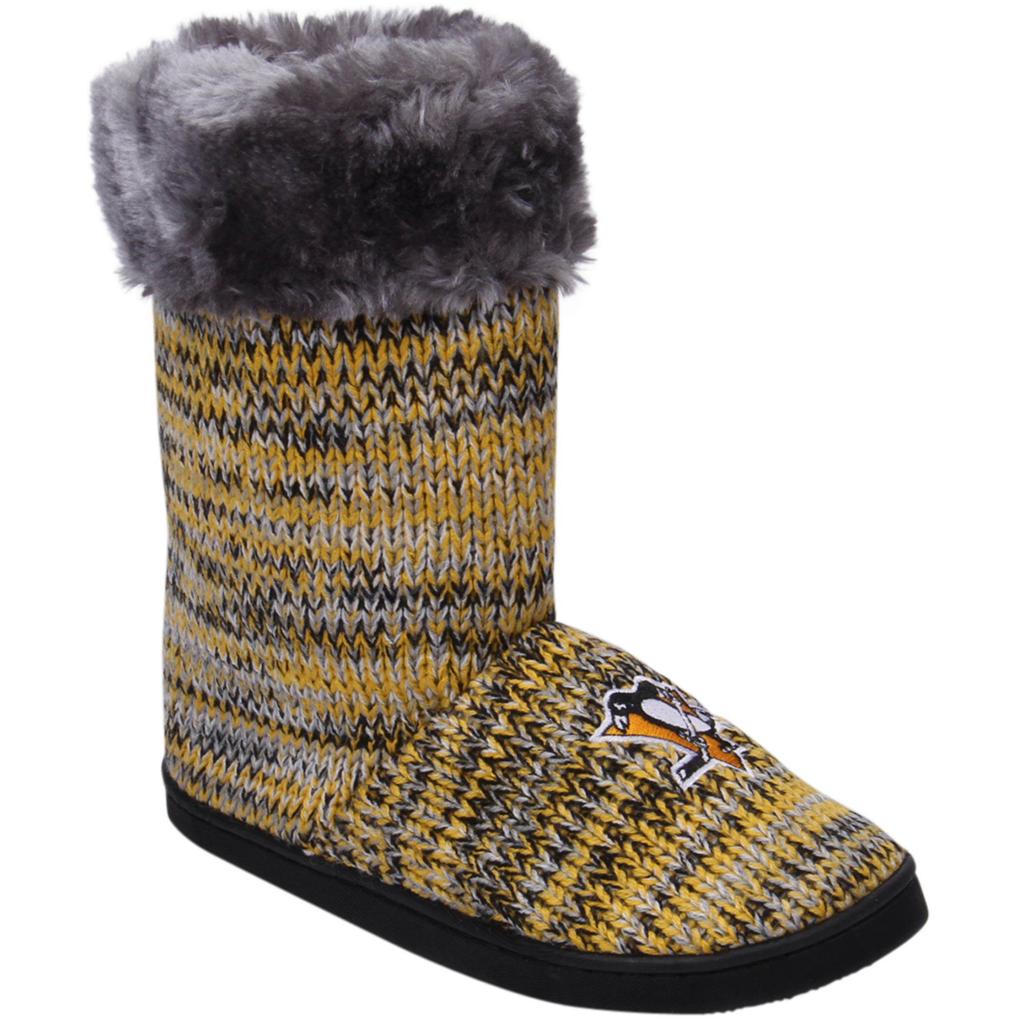 Women's Pittsburgh Penguins Peak Knit Boots by TEAM BEANS INC/FOREVER COLLECTIBLES