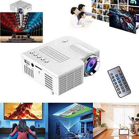 Home Theater Projectors Mini 1080P LED HD HDMI Projector with Multiple Interface...