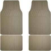 Armor All Floor Mat 4-Piece Rubber, Tan