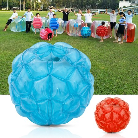 Portable Body Inflatable Bubble Bumper Ball 60CM Foldable Red/Blue Outdoor Amusement Park Beach Backyard Kids Toy Game 23.62inch ()