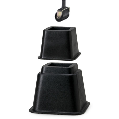 adjustable bed risers - walmart