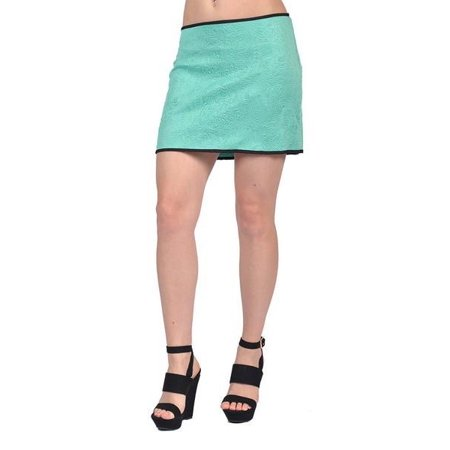 Tyche Fashion Embossed Design Mini Skirts Green