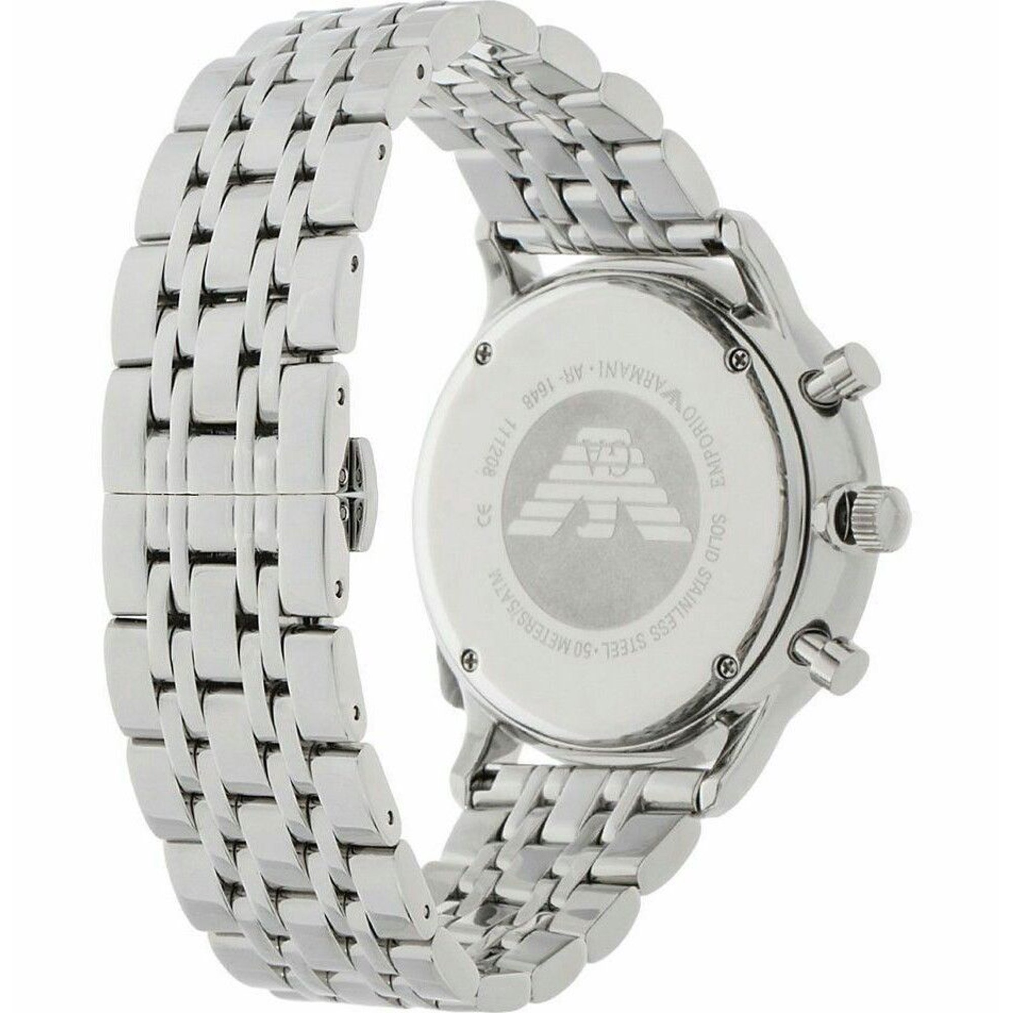 f25d69f5ea63 Emporio Armani Men s Chronograph Gianni Stainless Steel Bracelet Watch 43mm  AR1648