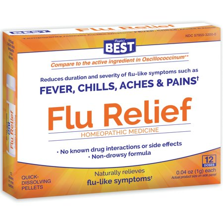 People's Best Flu Relief 12 DOSE (Best Over The Counter Flea Medicine For Cats)