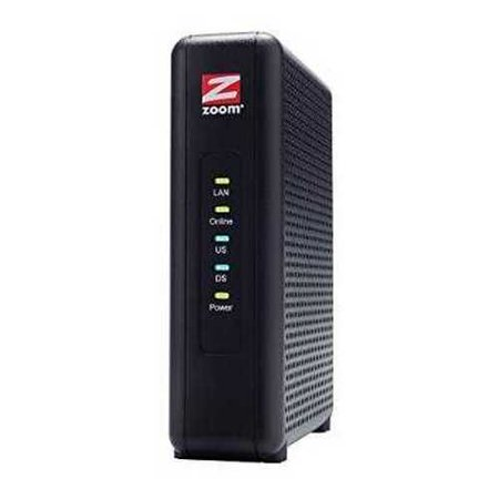 Refurbished Zoom 8X4 Cable Modem  343 Mbps Docsis 3 0  Model 5345  Certified By Comcast Xfinity  Time Warner Cable And Other Service Provide