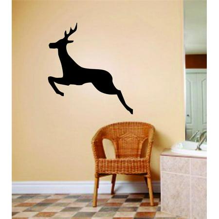 New Wall Ideas Moose Deer Buck Jumping Animal Hunting Hunter Man Gun B