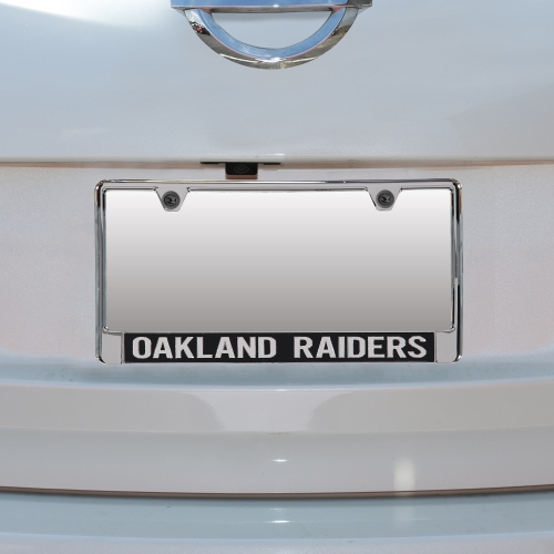 Oakland Raiders Mirror With Color Letters License Plate Frame - No Size