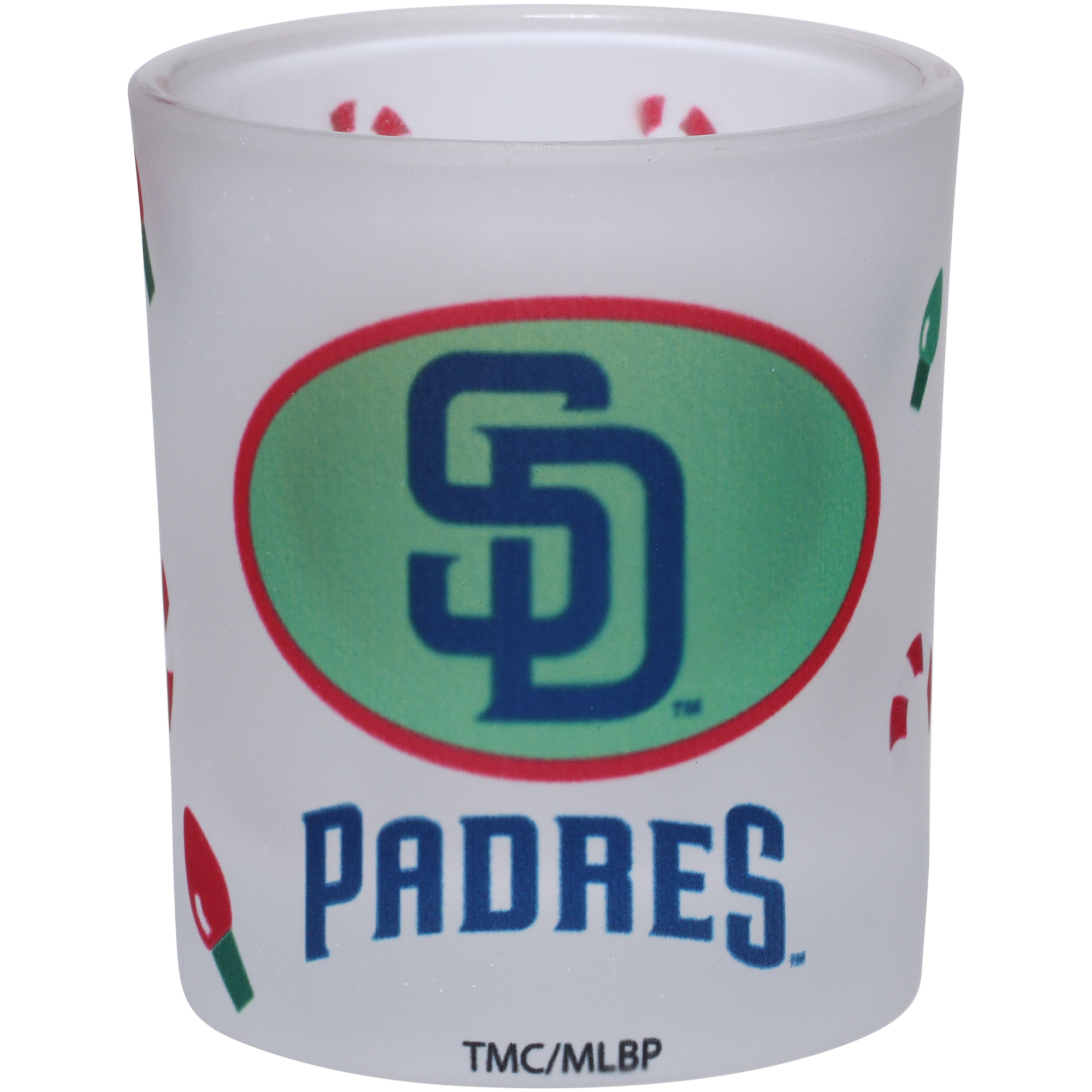 San Diego Padres 8.5oz. Holiday Frosted Milk Glass - No Size