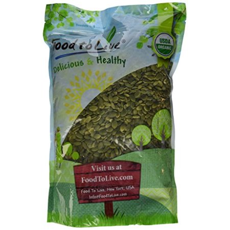 Food To Live ® Organic Pepitas / Pumpkin Seeds (Raw, No Shell) (4 Pounds)