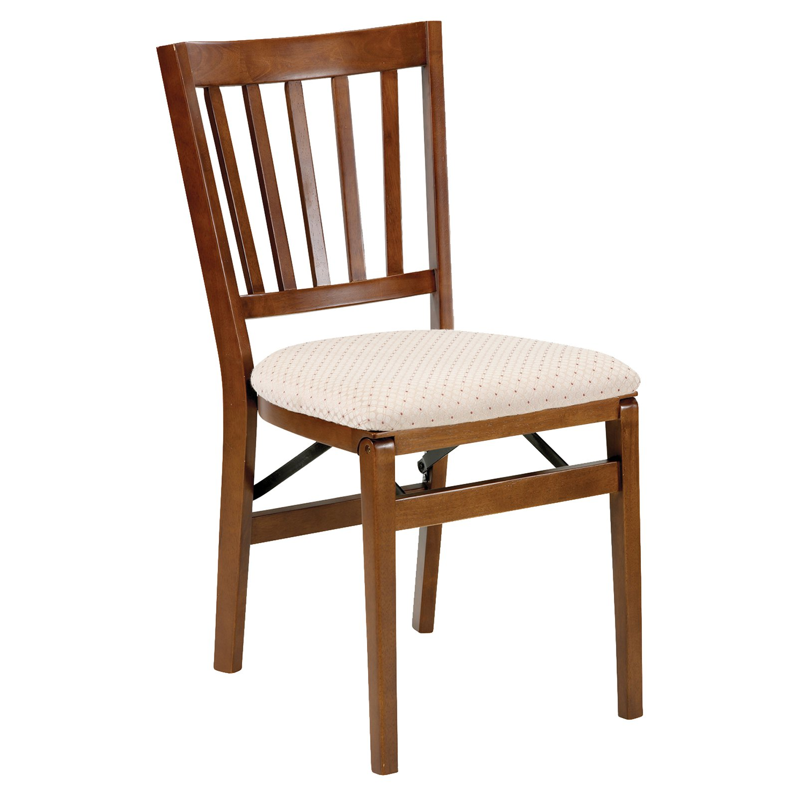 stakmore schoolhouse upholstered folding chair set of 2