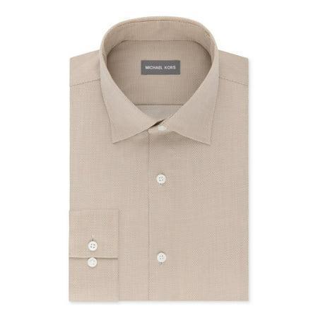 Michael Kors Mens Regular Fit Non-Iron Button-Down Shirt