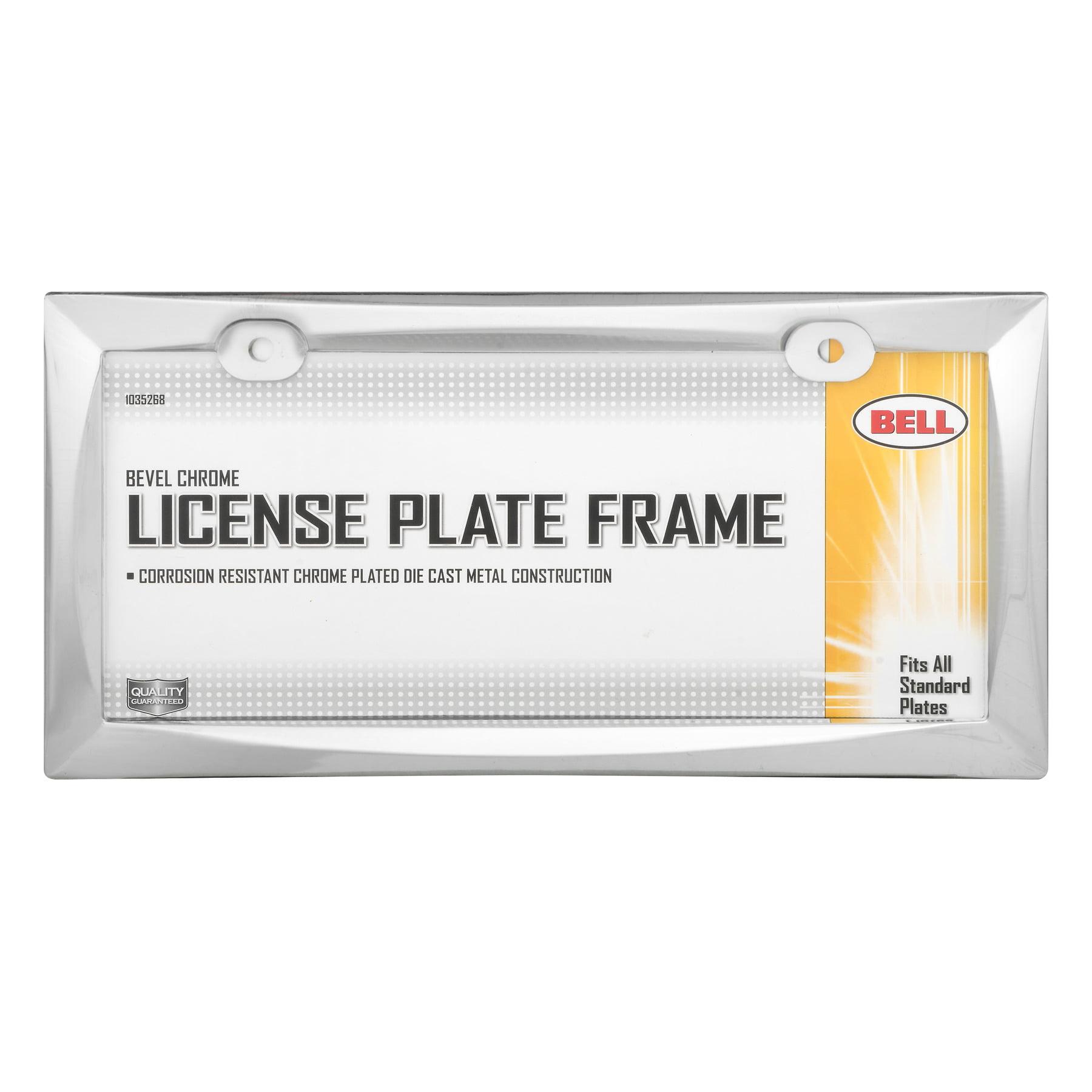 Bell Bevel Chrome License Plate Frame, 1.0 CT