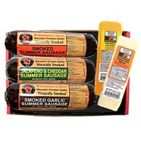 Product Image Summer Sausage and Cheese Sampler Gift Basket