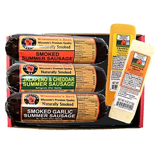 Summer Sausage and Cheese Sampler Gift