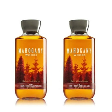 Bath & Body Works Mahogany Woods For Men 2-in-1 Hair and Body Wash (2 Pack), Includes (2) 10 fl.oz. bottles By Bath Body Works
