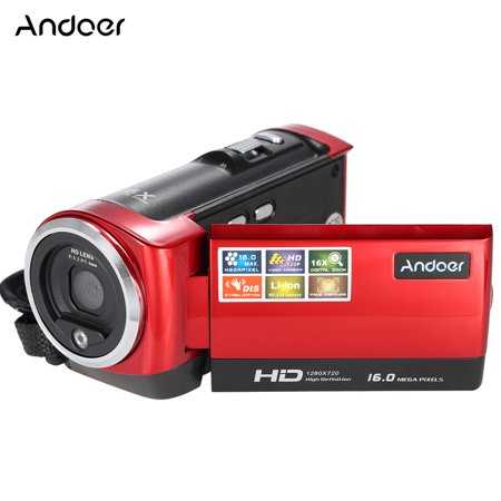 30 Fps Digital Video - Andoer Mini Portable LCD Screen HD 16MP 16X Digital Zoom 720P 30FPS Anti-shake Digital Video Recorder DV   Camera Camcorder DVR