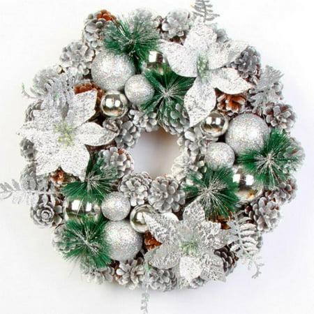 Door pendantChristmas Wreath decorative Christmas Pine Cone Wreath Front Door Artificial Wreath for