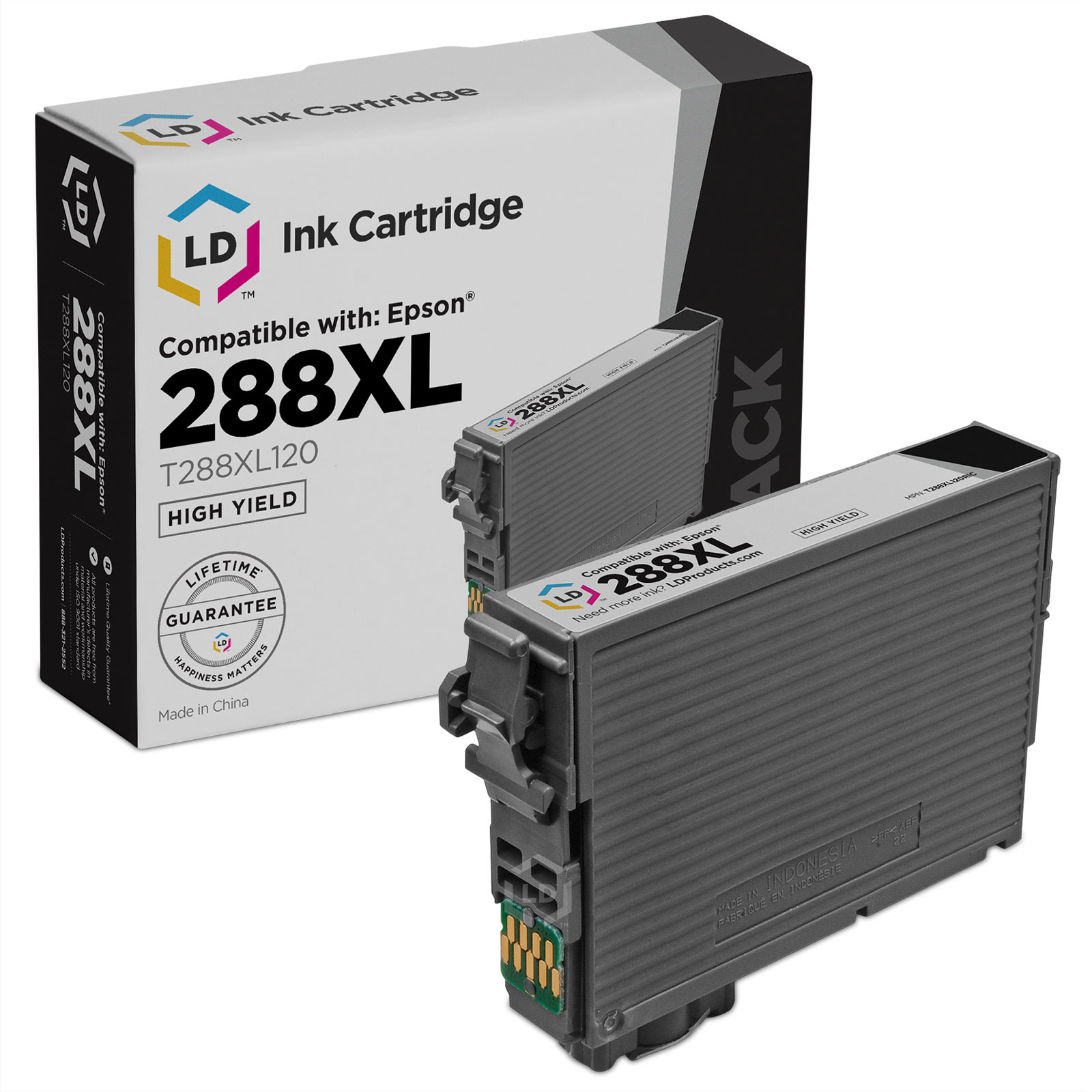 LD Remanufactured Epson 288 / 288XL / T288XL120 High Yield Black Ink Cartridge for use in Expression XP-330, XP-430, XP-434 & XP-440