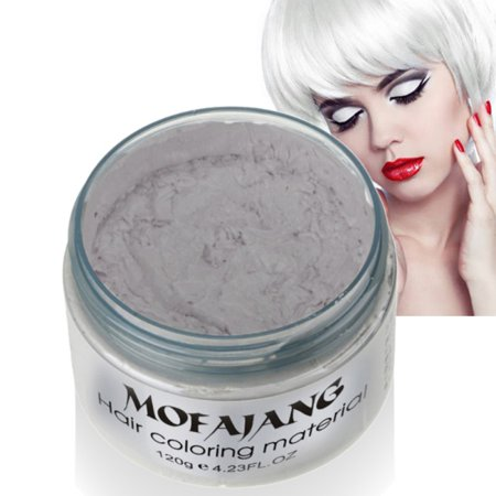 Temporary Red Hair Dye (Sweetsmile Mofajang Hair Wax Fashion Unisex Modeling DIY Temporary Hair Coloring Styling Mud Dye)