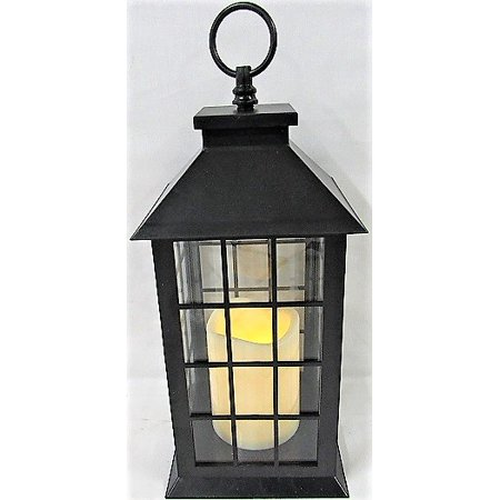 Smart Home Hanging Candle Decorative Lantern in (Black Hanging Lantern)