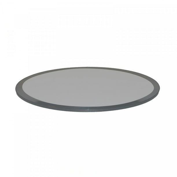 60 Inch Round Glass Table Top 1 2 Inch Thick Grey Tempered Glass With Beveled Edge Polished Walmart Com Walmart Com