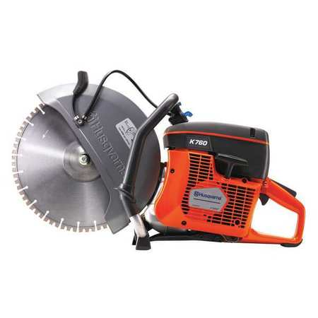 HUSQVARNA K760 Cut-Off Saw,2-Cycle Gasoline,Wet/Dry Cut