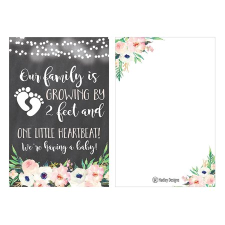 25 Pregnancy Announcement Card Set, We're Expecting Baby Surprise Having Birth Reveal Only Best Friends Get Promoted To Auntie Aunt Uncle Grandpa Grandma Grandparent Sister Brother Family Dad