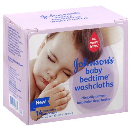 johnson and johnson bedtime washcloths