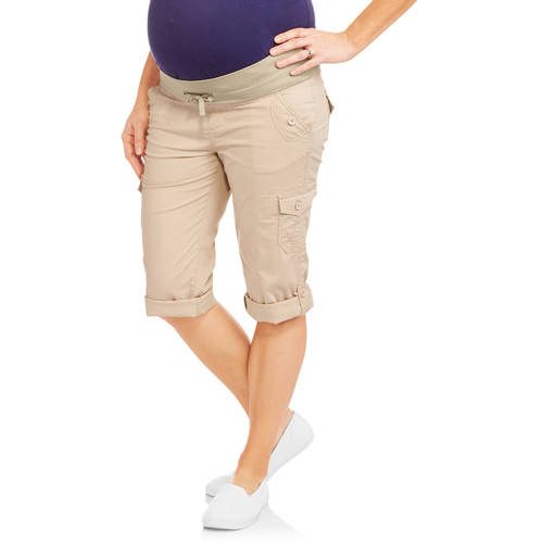 Happy Mama 775p Womens Maternity Stretchy Leggings Over-The-Bump Waistband