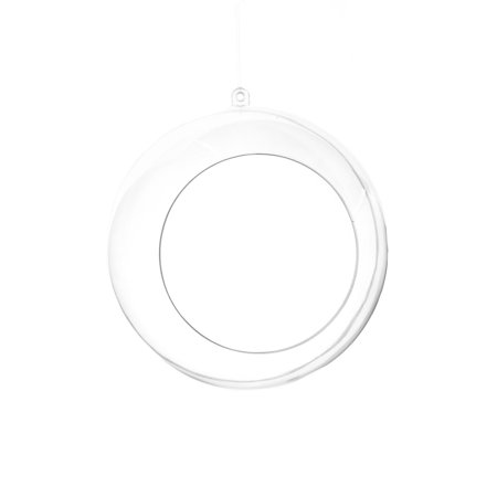 Fillable Plastic Clear Ball Ornament With Opening, 4-3/4-Inch, - Plastic Clear Ornaments