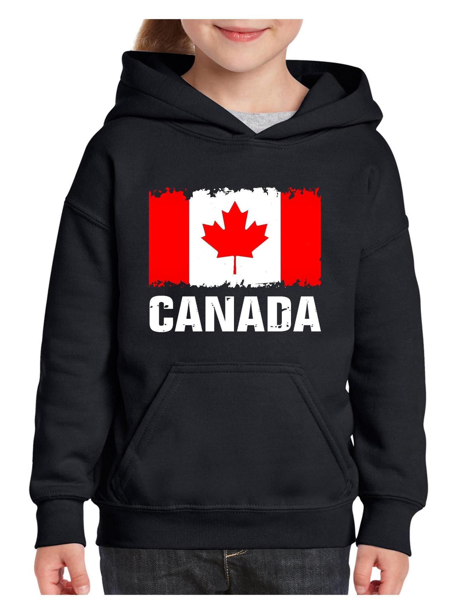 Canada Flag Canadian Unisex Hoodie For Girls and Boys Youth Sweatshirt