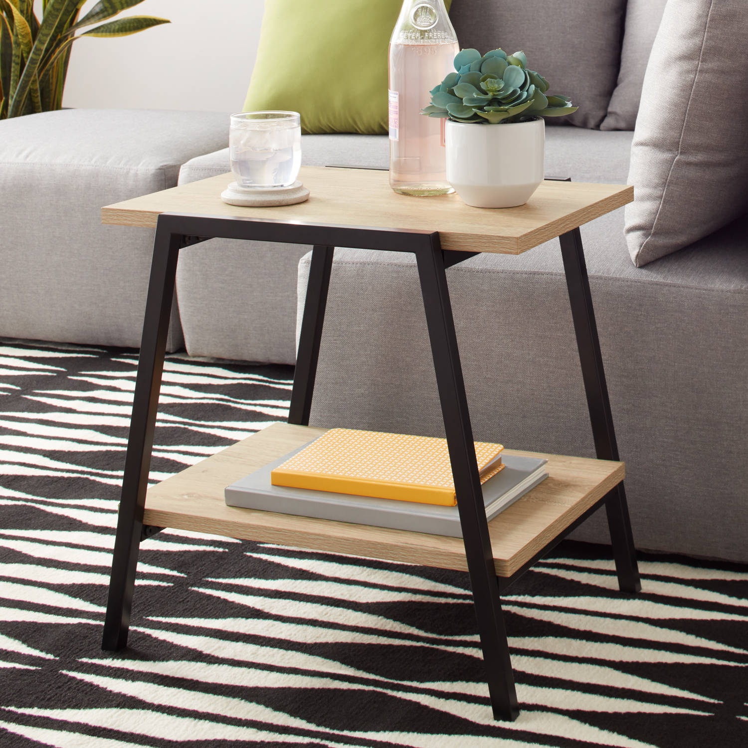Mainstays Conrad Side Table With Shelf