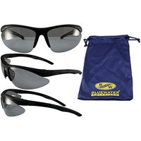 ce3bfdc5a9 Product Image BlueWater Polarized Islander 24 Sunglasses Black Frames  Photochromic Transforming Lens Lighter to Darker Smoke Lens by