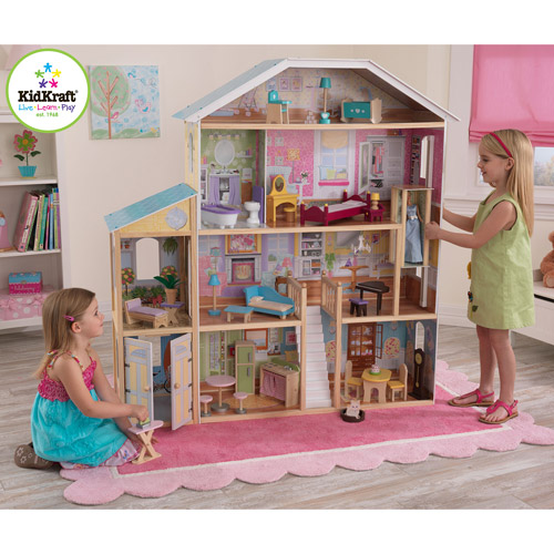 KidKraft Majestic Mansion Wooden Dollhouse with 33 Pieces of Furniture